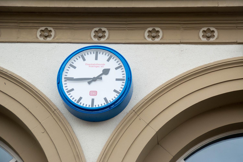 Bahnhofsuhr Sinsheim Eisenbahnfreunde Kraichgau 13122015 08 jpg