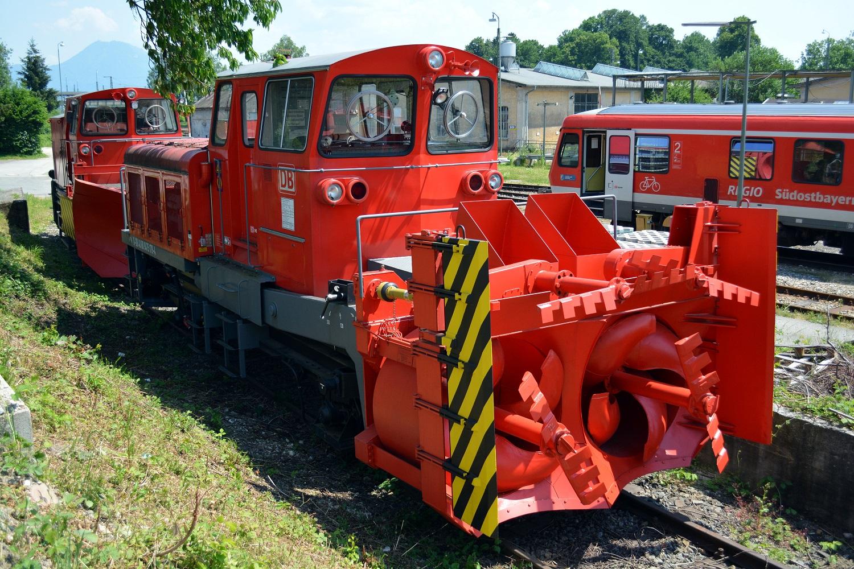 05 Eisenbahnfreunde Kraichgau Chiemsee Schneepflug Deutsche Bahn