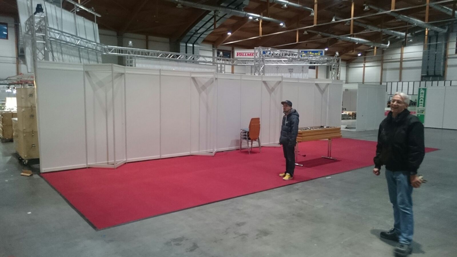 Eisenbahnfreunde Kraichgau Faszination Modellbahn 2016 Standaufbau Messe 01