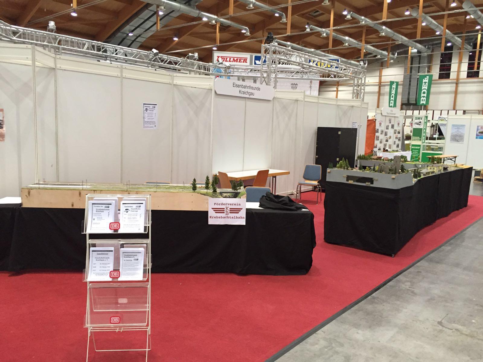 Eisenbahnfreunde Kraichgau Faszination Modellbahn 2016 Standaufbau Messe 02