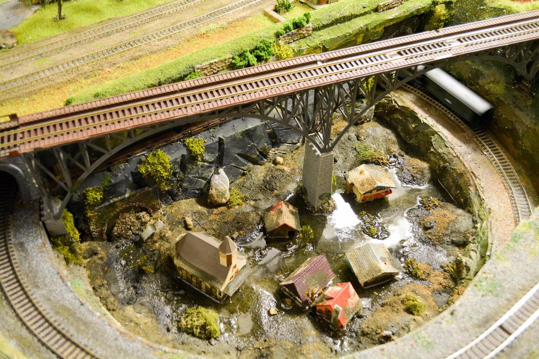 Modelleisenbahnfreunde Bremen versunkenes Dorf