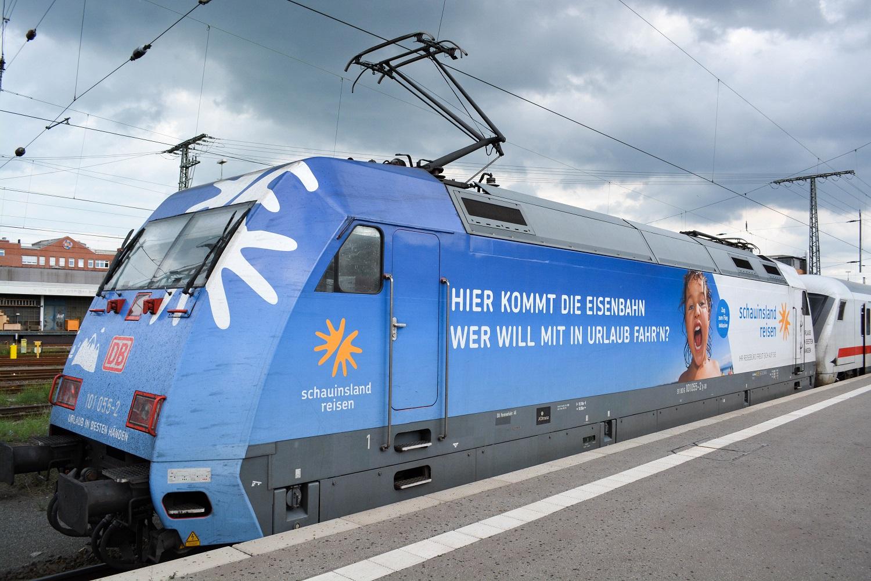 Bremen Hauptbahnhof Baureihe 101-055 werbelok Schauinsland Reisen